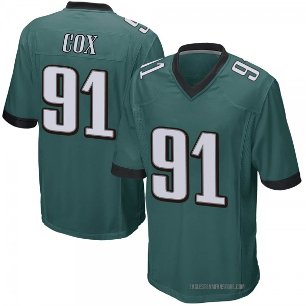 Youth Fletcher Cox Philadelphia Eagles Game Green Team Color Jersey